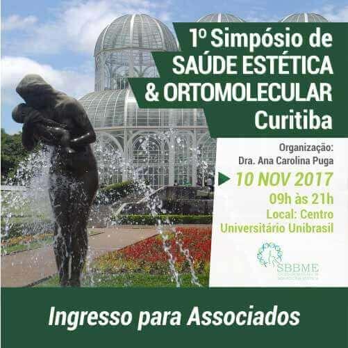 Ingresso (Associados) – 2º LOTE – Simpósio em Saúde Estética e Ortomolecular (Curitiba-PR)