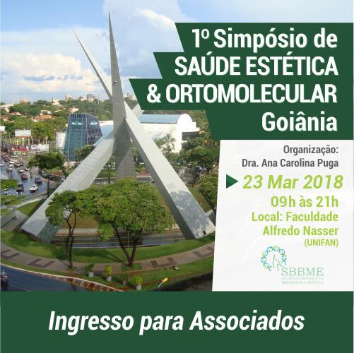 Ingresso (Associados) –  Simpósio em Saúde Estética e Ortomolecular (Goiânia-GO)