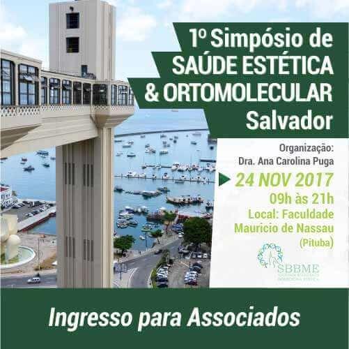 Ingresso (Associados) – 2º LOTE – Simpósio em Saúde Estética e Ortomolecular (Salvador-BA)