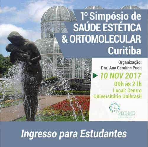 Ingresso (Estudantes) – 2º LOTE – Simpósio em Saúde Estética e Ortomolecular (Curitiba-PR)