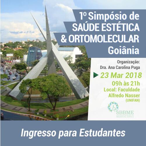 Ingresso (Estudantes) –  Simpósio em Saúde Estética e Ortomolecular (Goiânia-GO)