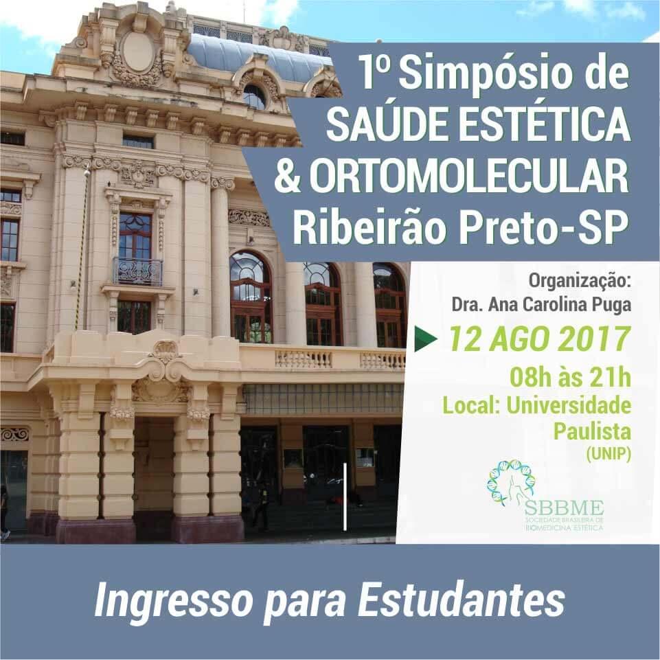 Ingresso (Estudantes) – 2º LOTE – Simpósio em Saúde Estética e Ortomelucular (Ribeirão Preto-SP)
