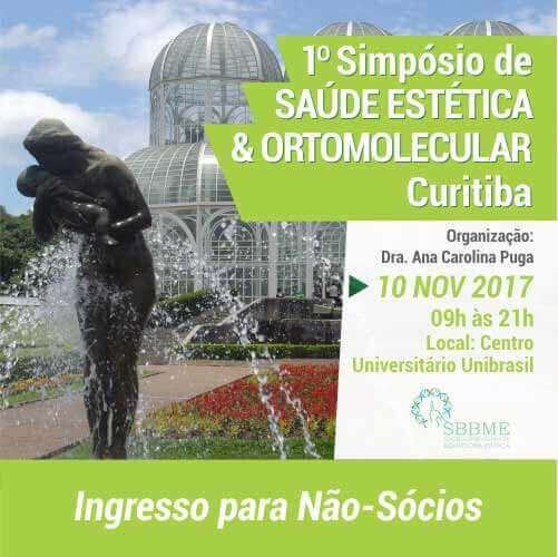 Ingresso (Não-Sócios) – 2º LOTE – Simpósio em Saúde Estética e Ortomolecular (Curitiba-PR)