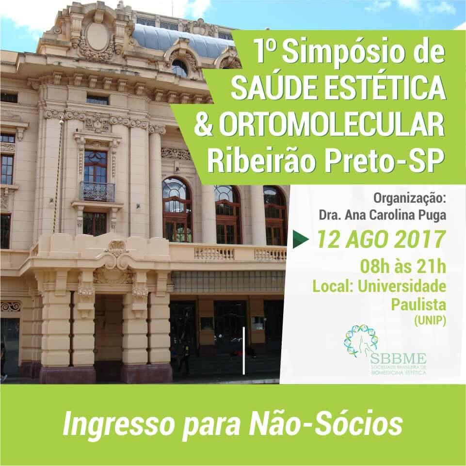 Ingresso (Não-Sócios) – 2º LOTE – Simpósio em Saúde Estética e Ortomolecular (Ribeirão Preto-SP)