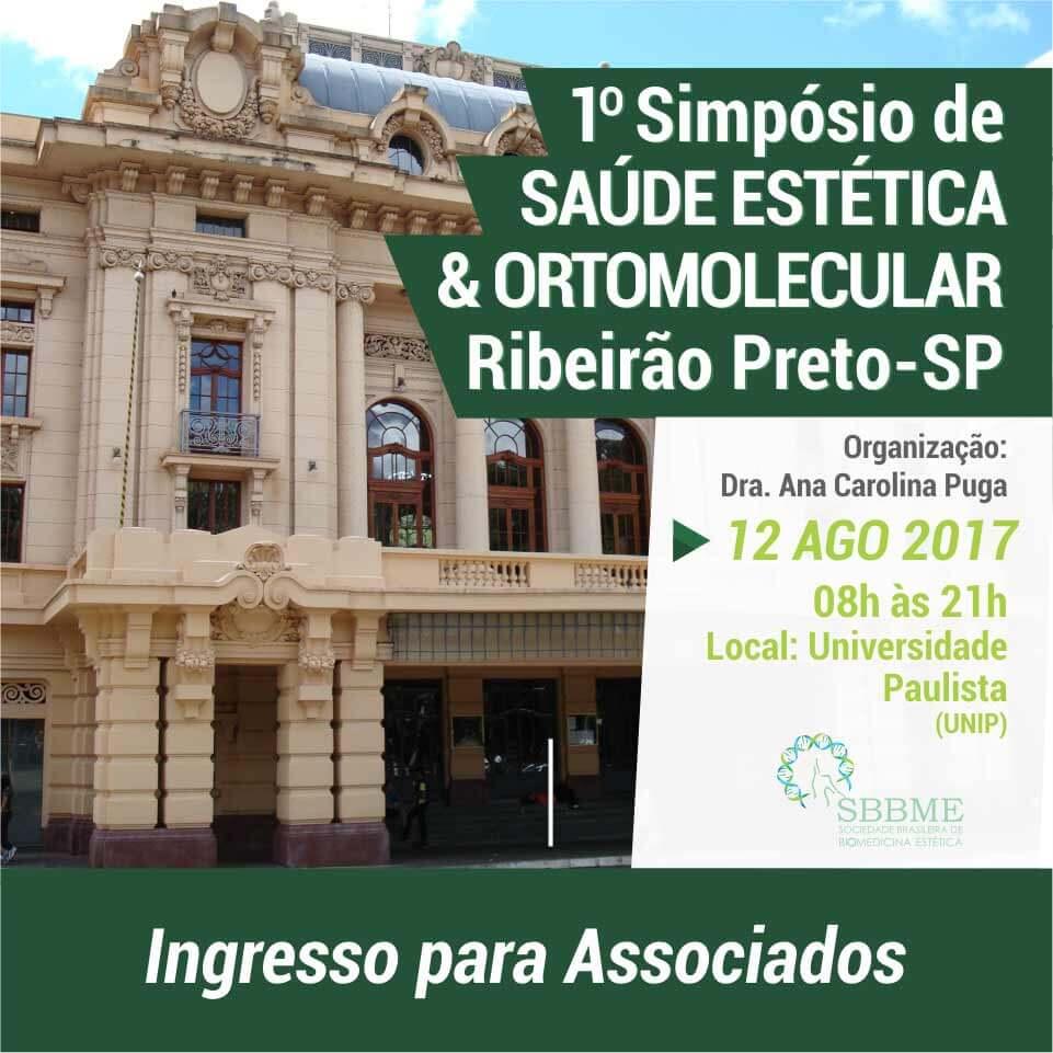 Ingresso (Associados) – 2º LOTE – Simpósio em Saúde Estética e Ortomolecular Ribeirão Preto-SP
